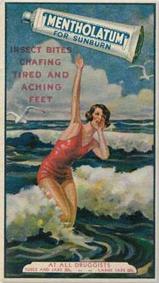 Mentholatum Canada Sunburn Vintage Ad